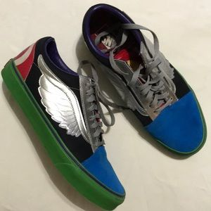 VANS M 9.6 W 11 Marvel sneakers super heroes star